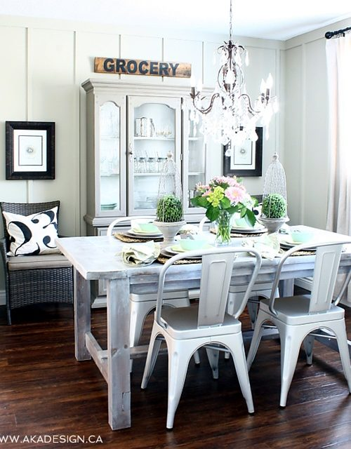 Cottage style dining room at AKA Design