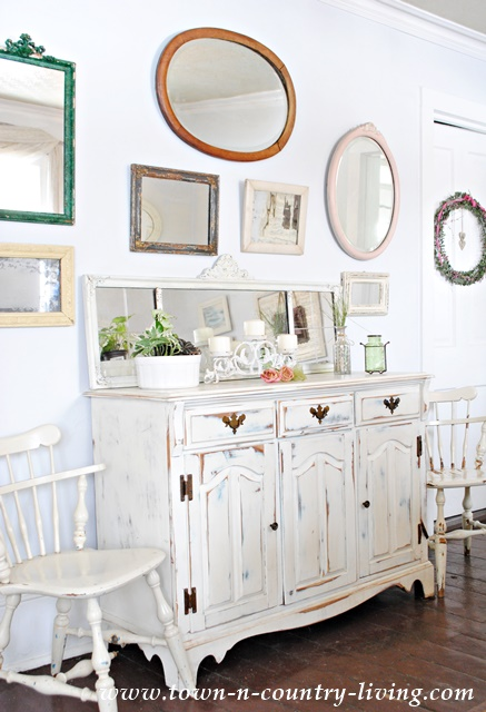 Vintage Mirrors In My Dining Room