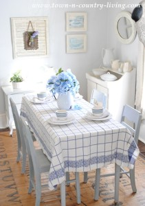 Spring Dining Room in Blue and White
