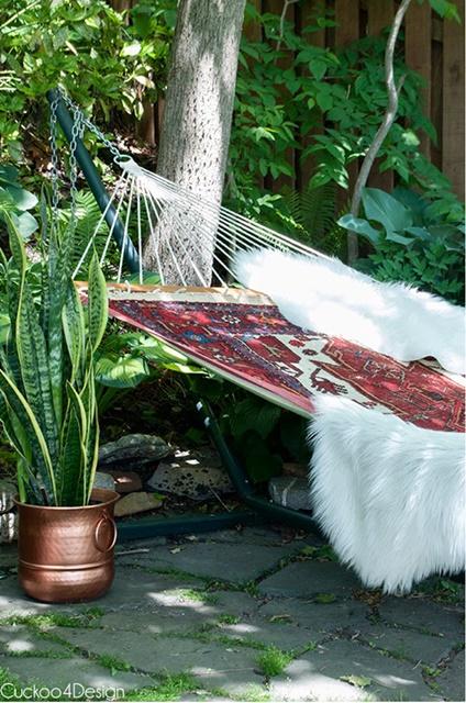 Outdoor Hammock in a Backyard Garden