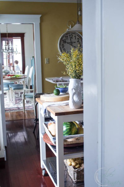 Kitchen details in an historic seaside home