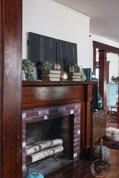 Wood trim mantel in east coast home