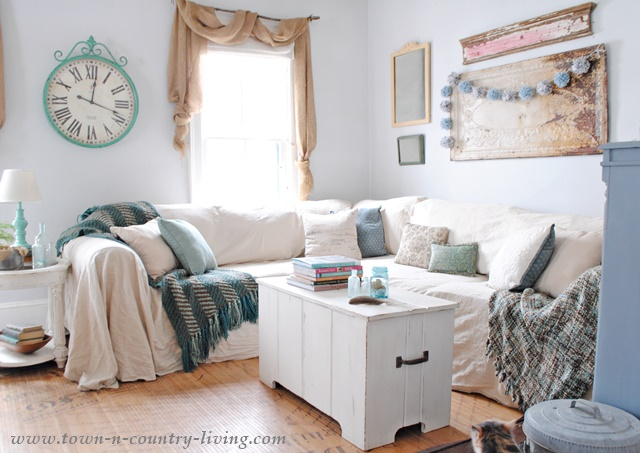 No Sew Drop Cloth Slipcovers Look Like Linen At A Fraction Of The Cost
