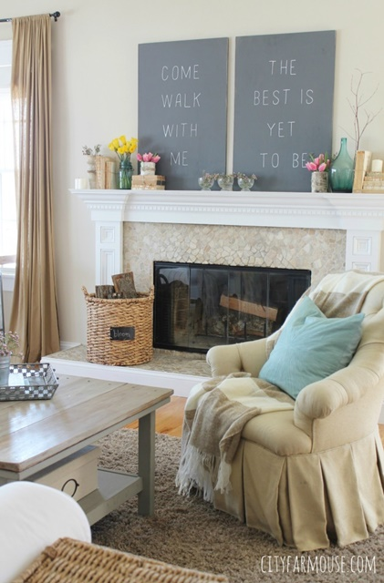 Modern Farmhouse Spring Home Decor Ideas: 14 Inspiring Spring Decorating Ideas