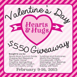 Hugs and Hearts $550 Valentine's Day Giveaway!
