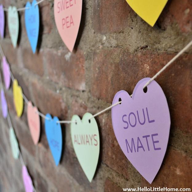 Conversation Heart Paper Banner