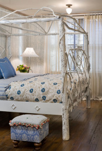 Cottage style twig bedroom