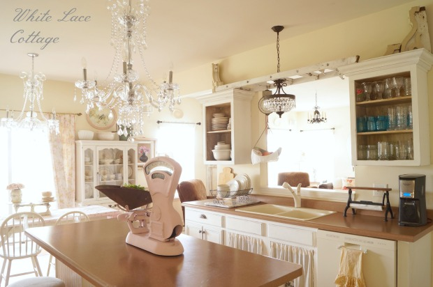 Shabby Chic Kitchen in White and Neutrals