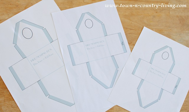 Template For Making Paper Birdhouses