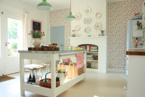 Decorating with Pastels. A Cath Kidston style kitchen.
