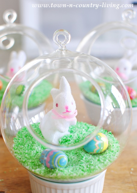 DIY Easter Globe Decorations