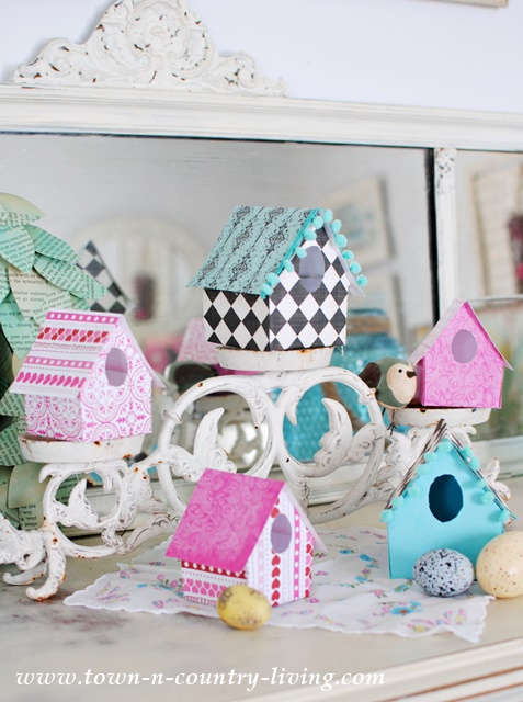 Diy Paper Birdhouses Town Country Living