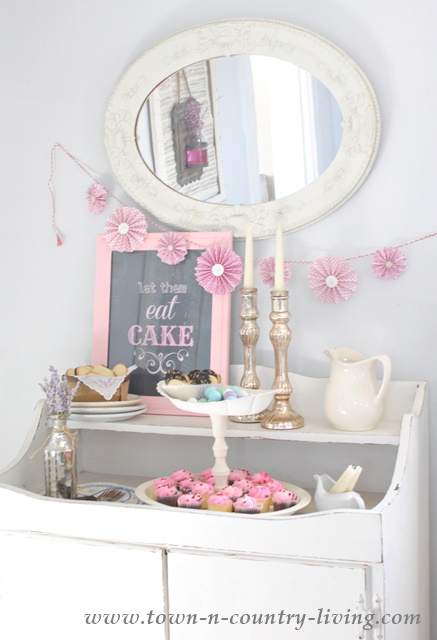 How to create a pretty dessert bar using plain items from the thrift store.