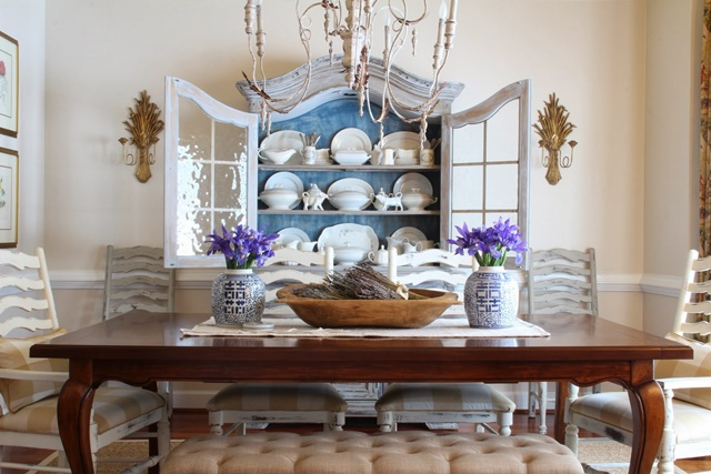 kim painted the hutch in her dining room that s filled with gorgeous