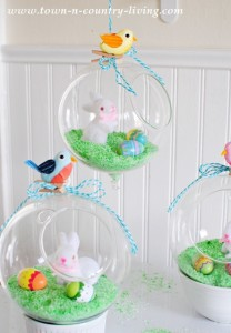 DIY Easter Globes and a Pillow Winner!