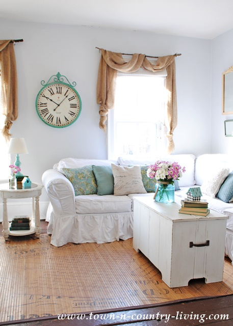 farmhouse style spring decor town country living. Black Bedroom Furniture Sets. Home Design Ideas