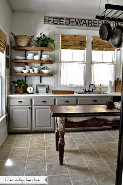 Farmhouse Kitchen. See the rest of the house tour!