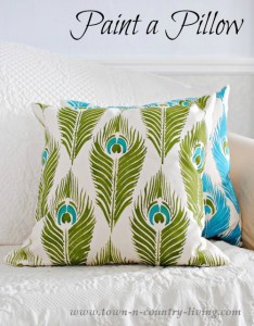 How to Paint a Pillow and a Giveaway!