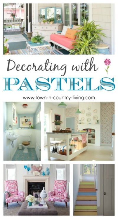 Decorating with Pastels. 12 beautiful examples!
