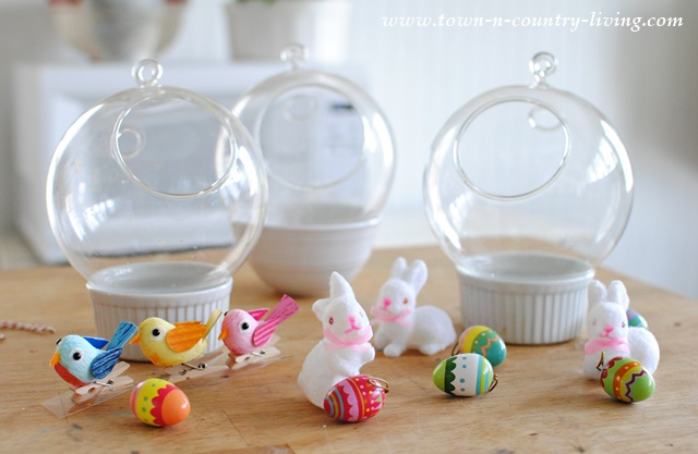 How to make Easter globes
