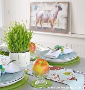 Farmhouse Style Spring Breakfast Nook