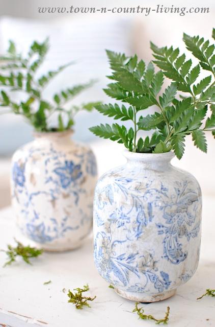 Transferware Vases