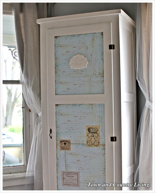 Skinny Armoire used as Cloak Cabinet
