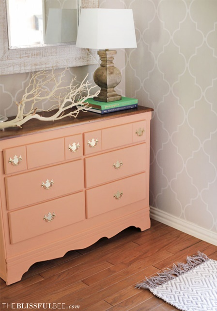 Coral Console in Neutral Entryway
