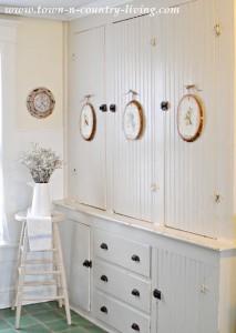 Built-in Bead Board Kitchen Cupboard