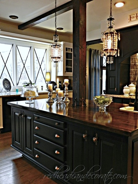 Traditional Kitchen Dressed in Black