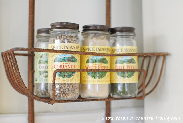 Organize Your Kitchen Spices with a Wall Basket Hanger