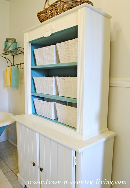 Bathroom Cabinet Was 2 Separate Curbside Finds. Stacked Together And Painted  With Annie Sloan Chalk