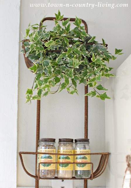 Rustic Wall Basket Hanger from Decor Steals
