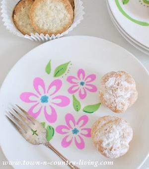 Stenciled Dessert Plates