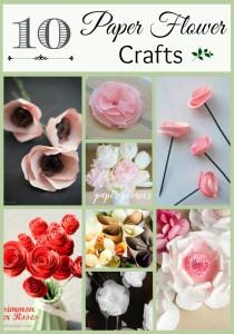 10 Paper Flower Crafts
