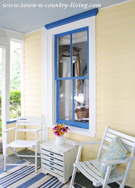 Farmhouse Springtime Porch