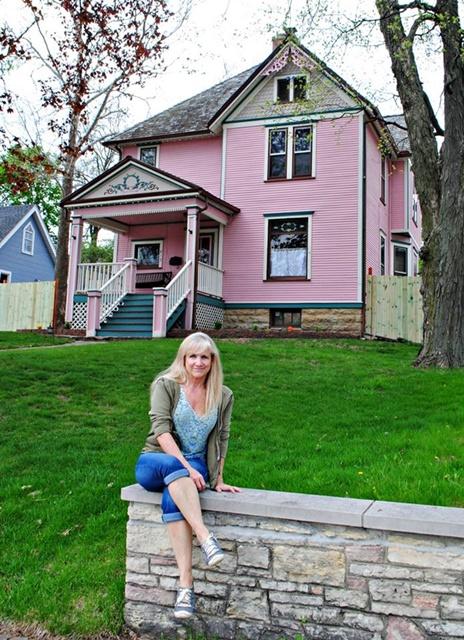 Pink Queen Anne Victorian Home
