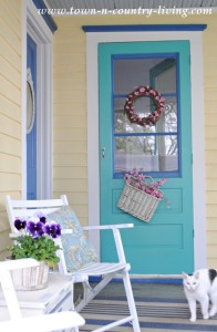Farmhouse Springtime Porch