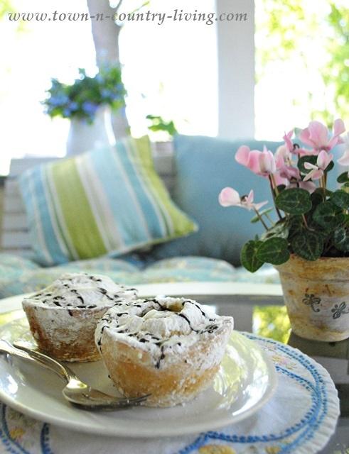 Treats on a Farmhouse Springtime Porch