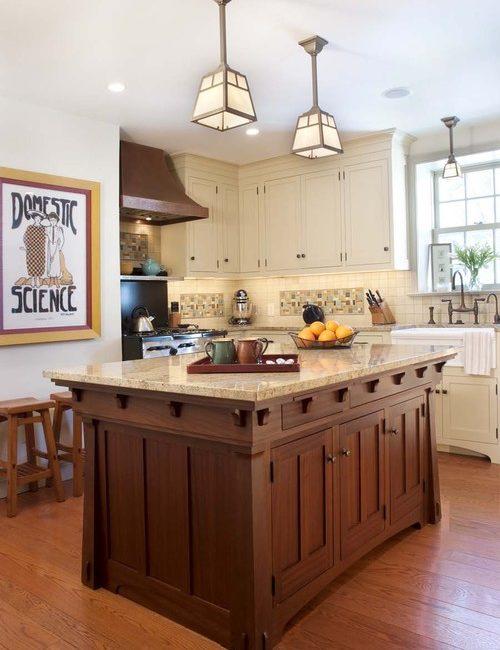 craftsman style, mission style, kitchen