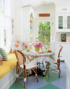 English Cottage Dining Nook by Alison Kandler