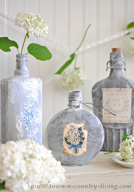 Decorate your unused glass bottles town country living - How to decorate glass bottles ...