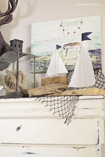 Coastal Style Summer Mantel by AKA Design