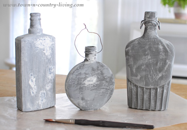 Gray Painted Bottles