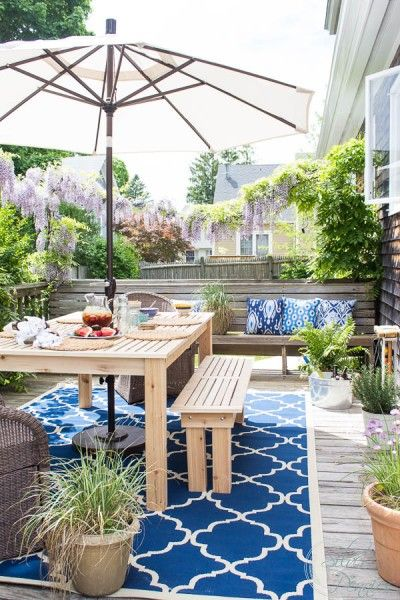 Summer Deck with Coastal Style by Finding Silver Pennies