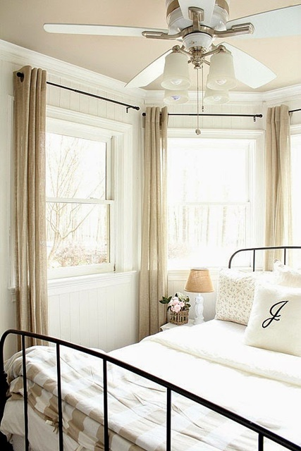 Charming and Neutral Guest Bedroom