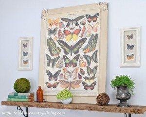 Summer Mantel with Butterflies