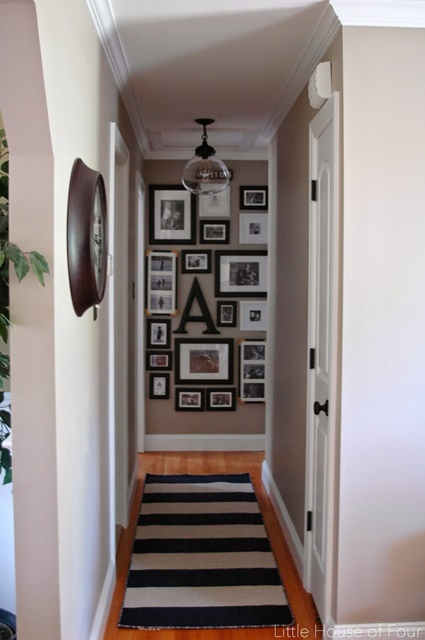 Wall Decor For End Of Hallway : Charming home tour little house of four town country