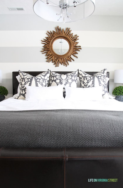 Guest Bedroom with Striped Walls