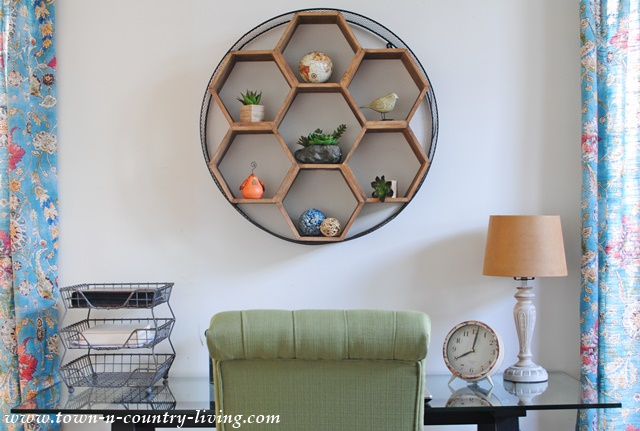 Honeycomb Shelf in Home Office